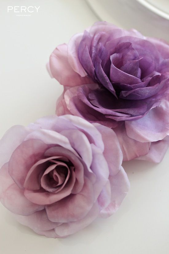 Handmade flowers in silk