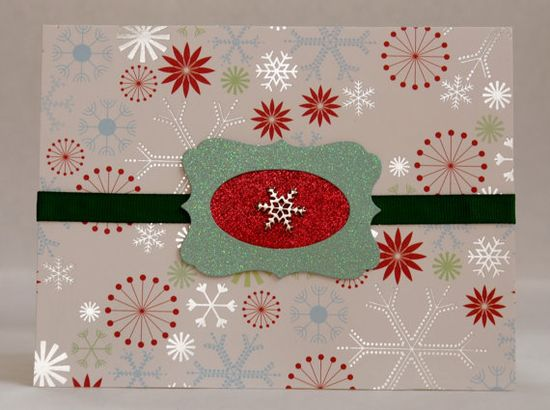 Handmade Christmas Card - Snowflakes