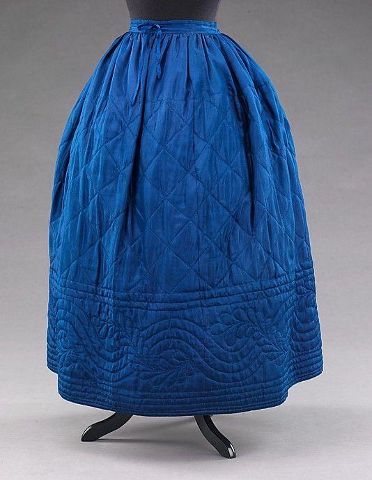 1840-55 petticoat