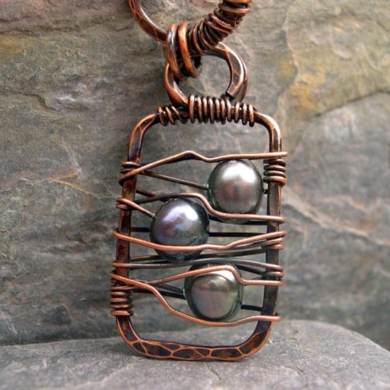 #Jewelry #pearl #wired #pendant