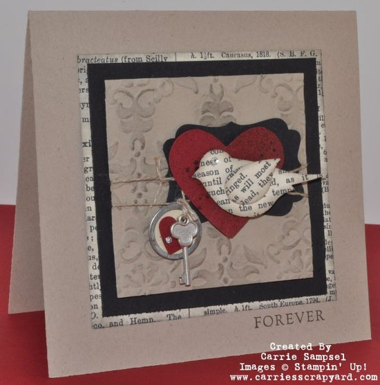 Stampin' Up!  Bird Punch  Carrie Sampsel  Valentine