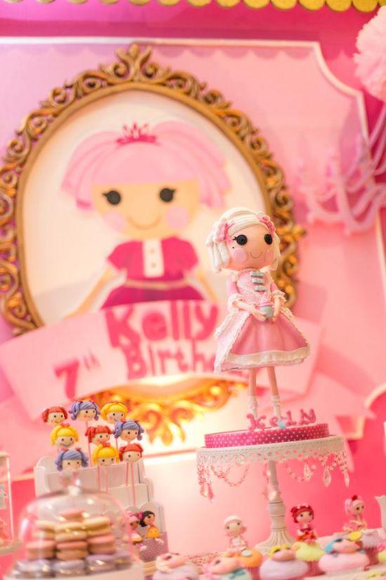 Lalaloopsy Beauty Parlor Themed BIrthday Party via Kara's Party Ideas #lalaloopsy #spa #makeover #party #planning #idea #decorations