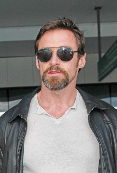 Hugh Jackman looking very cool in sunglasses