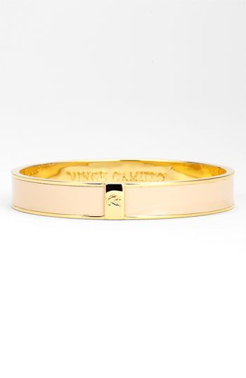 Vince Camuto 'Basics' Bangle available at #Nordstrom   in  Blush Patent/Gold