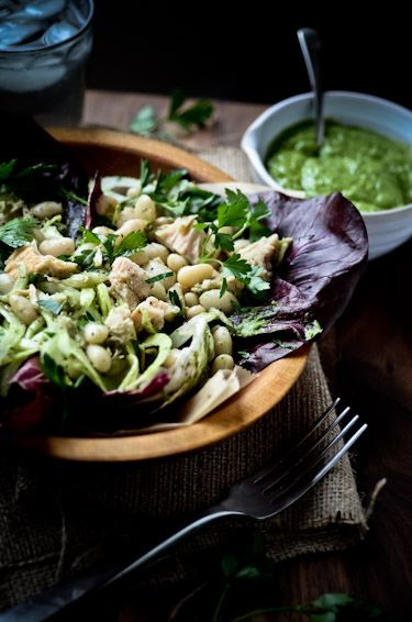 blissfulb - BLISS - blissful eats with tina jeffers: White bean and tuna salad with avocado parsley vinaigrette   blissfulbblog.com...