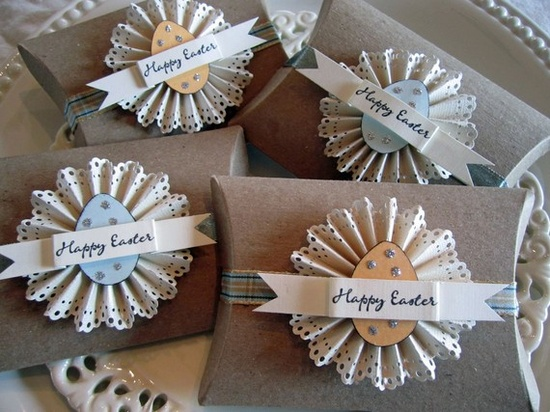 Easter Brown Pillow Boxes