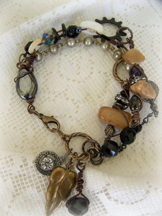 Handmade Wire Wrapped Altered Bracelet