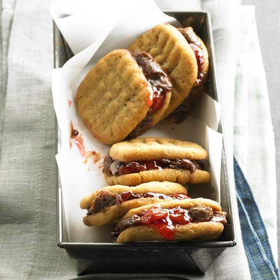 Peanut Butter, Jelly & Brownie Cookies