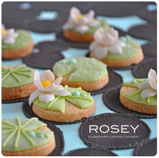Lotus. How to do iced lotus flower instead of fondant? by rosey sugar, via Flickr