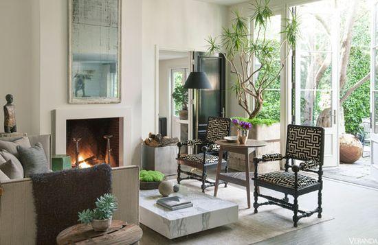 Lush West Hollywood Bungalow - Scott Shrader Design - Veranda