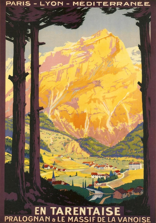 Vintage Travel Poster Photograph - France, French, Europe, European, Countryside, Train, Rail, photo