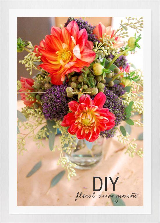 quick diy flower arrangement