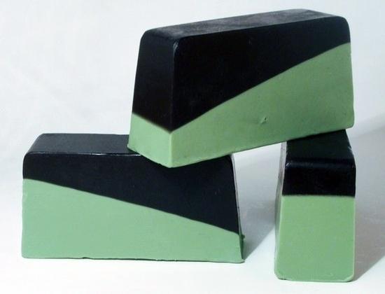 www.etsy.com/...  #handmade #soap #goatsmilk #lime #black #green