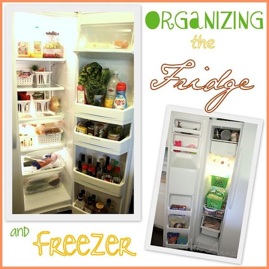 Tips for organizing the fridge and freezer. #organize www.askannamosele...