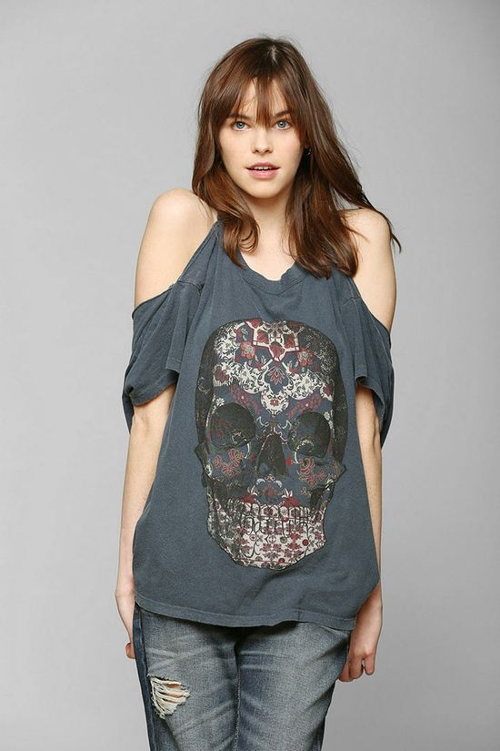 Truly Madly Deeply Boho Skull Tee - Urban Outfitters