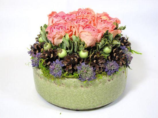 Contemporary Dried Floral Arrangement    #driedflowers  #arrangement
