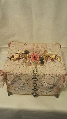 lace covered box
