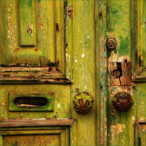 Old green doors