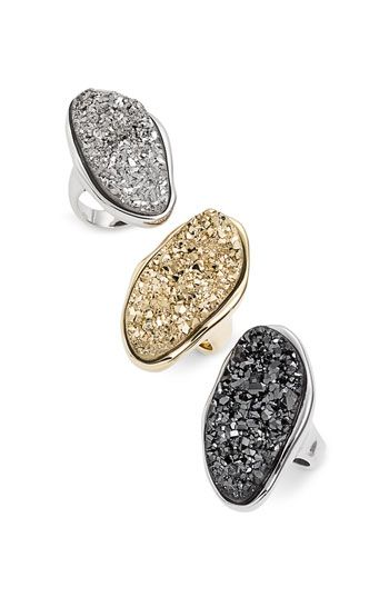 Marcia Moran Oval Agate Drusy Oversized Ring #nordstroms $235