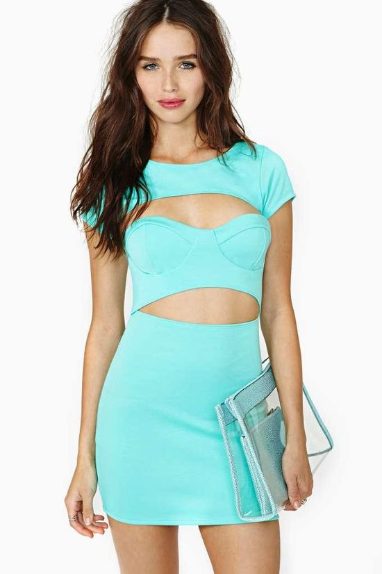 Nasty Gal Meant To Be Dress - Mint