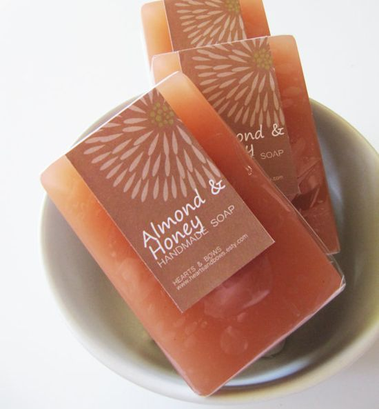 almond & honey handmade soap. yum.