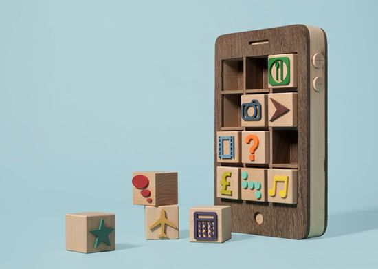 "If only this toy phone actually existed. ""Apps"" by Kyle Bean"