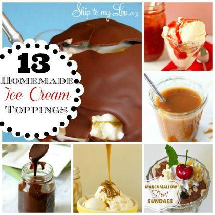 13 Decadent Homemade Ice Cream Sundae Topping Recipes @Cindy Hopper