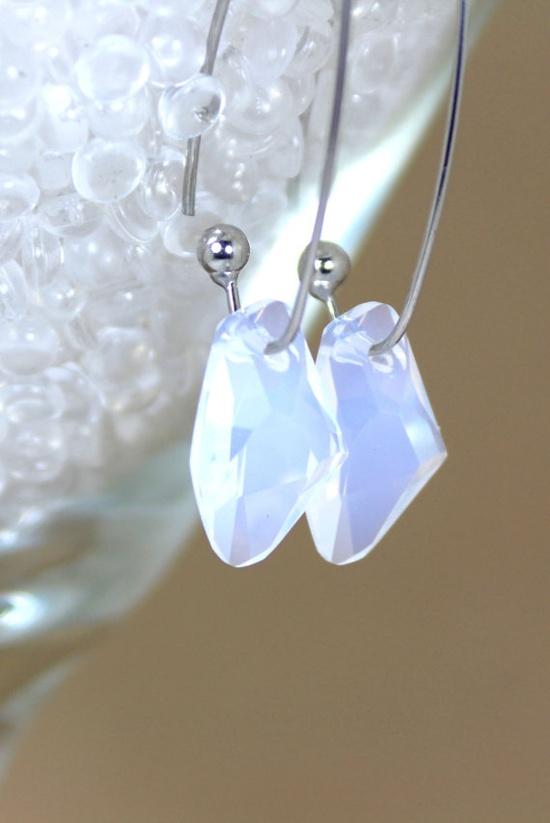 Opal Crystal  Dangle Earrings Galactic by TrinketsNWhatnots, $25.00  www.trinketsnwhat...