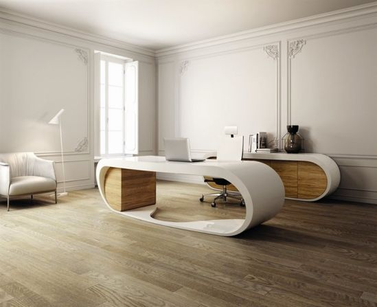 Danny Venlet designed the Goggle Desk for Italian office furniture manufacturer Babini