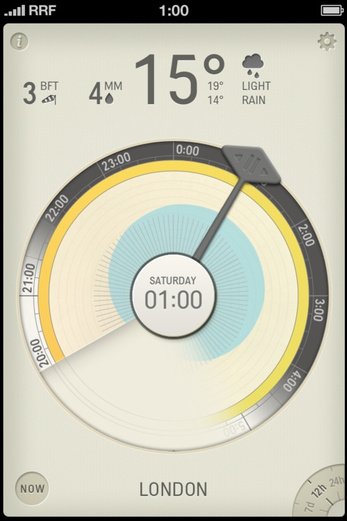 Partly Cloudy #UI #Design #app #interface
