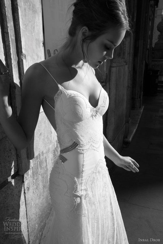 inbal dror glamourous sexy wedding dresses