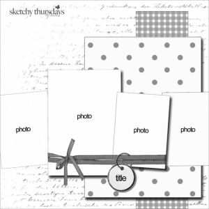 good page layout idea for left page of Birthday layout! #scrapbooking #layout #sketch by cassandra