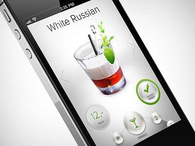 Dribbble - drink app doodle up by Martin Schurdak