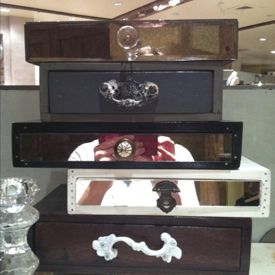 Repurposed jewelry box!