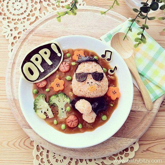 Comidas divertidas: PSY de Gangnam #express yourself