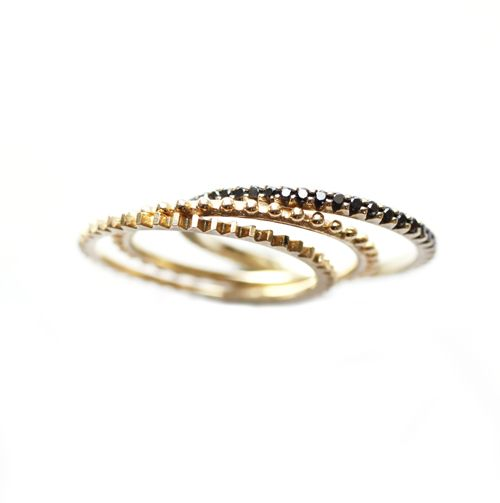mociun . black diamond stack rings i love these rings so much it makes my stomach hurt.