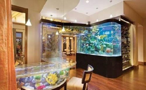 aquarium in home interior decorating 19