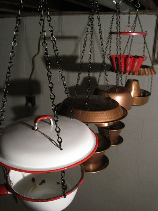 recycled metal bird feeders