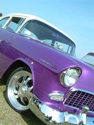 purple vintage car