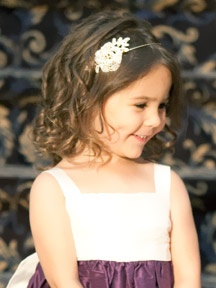 Flower girl hairstyle Headpiece by Bridal Styles Boutique
