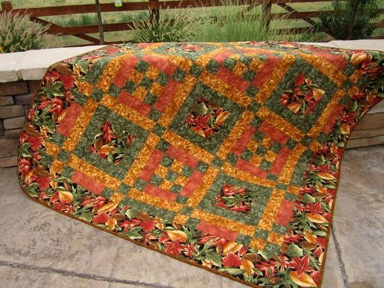 #Golden #Autumn #Patchwork #Quilt - #Handmade quilt, #Lap quilt, #Wall quilt #thecraftstar $175.00