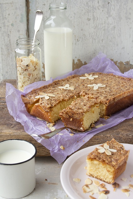 Classic, homey, wonderful Caramel Almond Cake. #cooking #food #beautiful #baking #dessert #cake #caramel #almonds