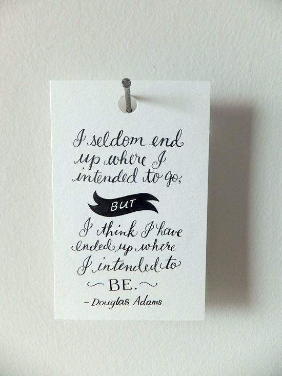Mini Quote  Douglas Adams by Brittwilson on Etsy