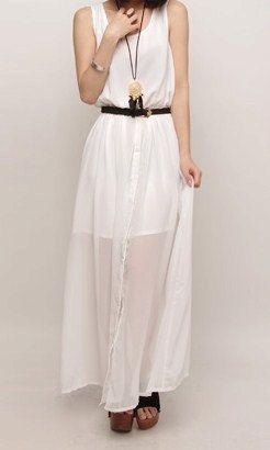 chiffon maxi dress.