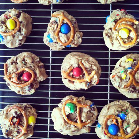 Peanut Butter and Pretzel M Cookies