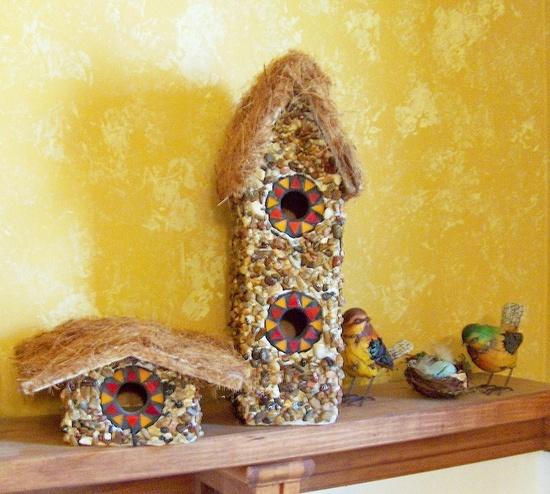 Rock Bird Houses