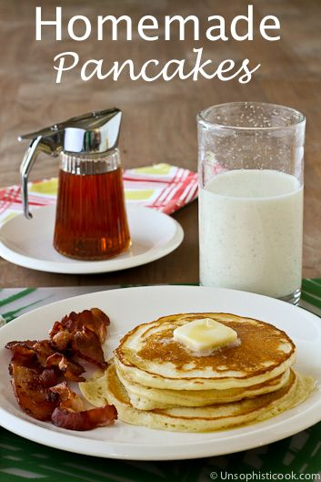 Homemade Pancakes unsophisticook.com