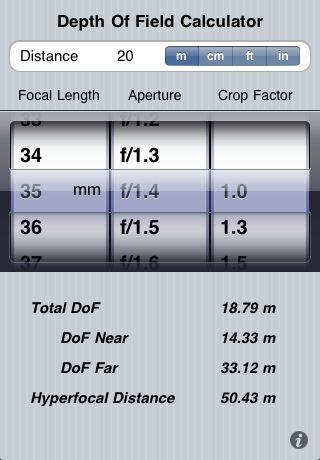 Depth of Field Calculator- got the app now to give it a try #photography