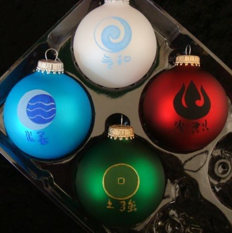 Avatar the Last Airbender ornaments...seriously, so awesome!