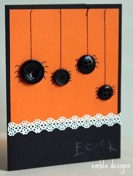 Set of 5 Halloween Cards